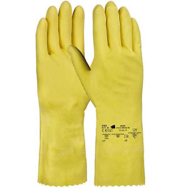 Latex-Haushaltshandschuh, leichte Qualität, gelb