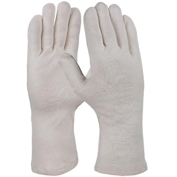 Baumwoll-Trikot-Handschuh, natur, 35cm, 632176