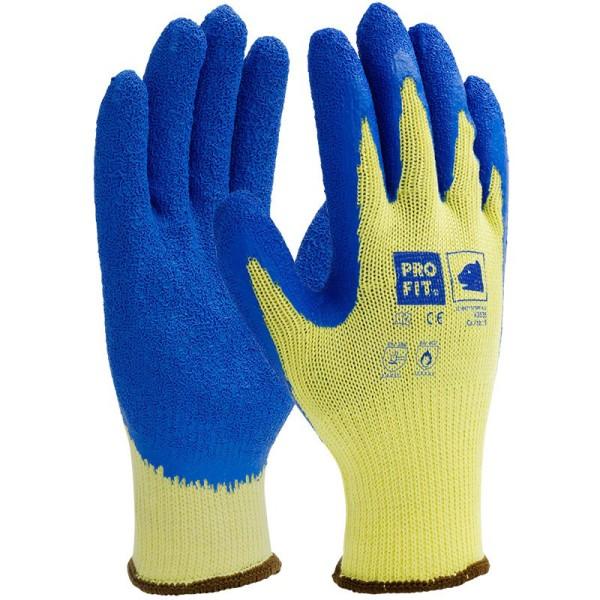 Latex-Schnittschutzhandschuh Level 5, gelb/blau