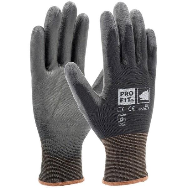 PU-Handschuh, schwarz, 12er Bund, S5001