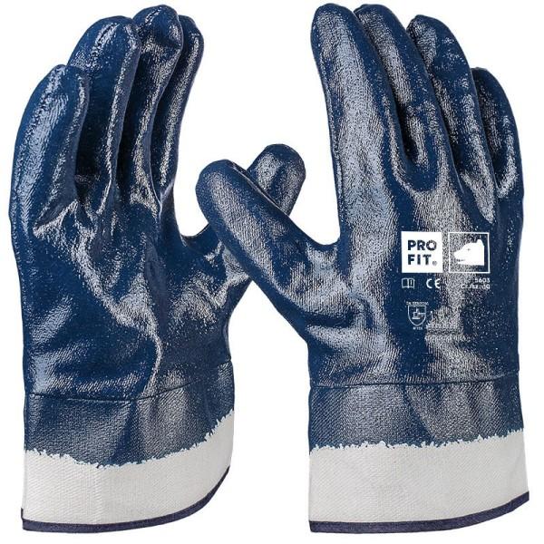Basic Nitril-Handschuh, blau, Stulpe 5604