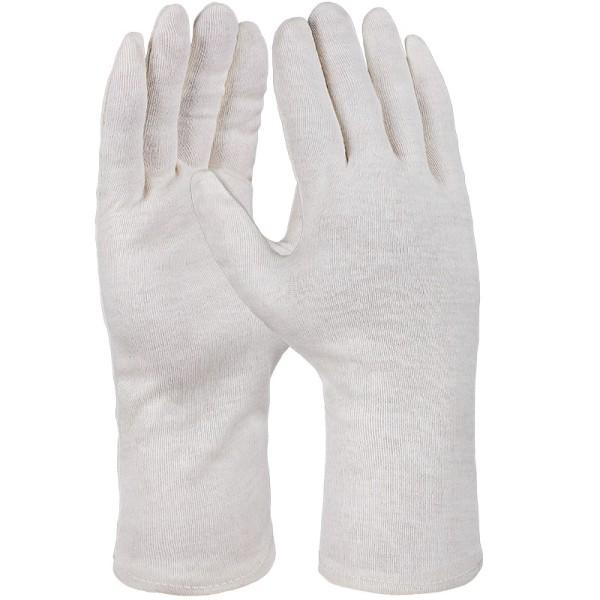Baumwoll-Trikot-Handschuh, natur, schwere Qualität