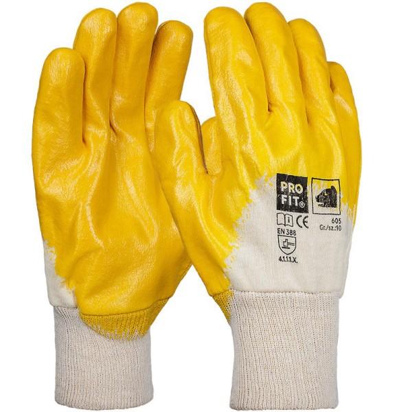 Winter Nitril-Handschuh, gelb, 3/4 beschichtet